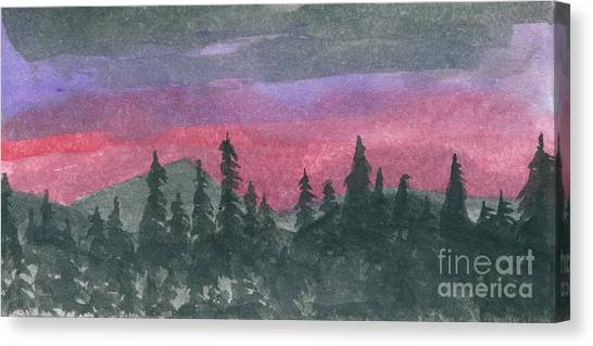 Nightfall Canvas Print by R Kyllo