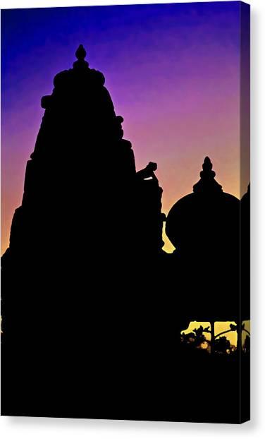 Coexist Canvas Print - Nightfall Silhouette Jain Hindu by Kantilal Patel
