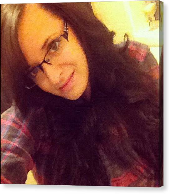 Flannel Canvas Print - #nightin #flannel #nerd by Alisha B
