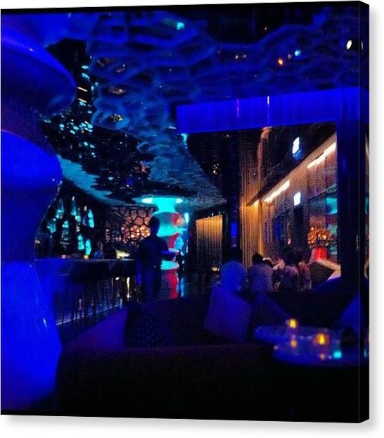 Lounge Canvas Print - #nightlife #nightout #fun #bar by Anastasia Mocandy