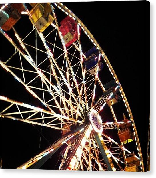Wisconsin Canvas Print - #nightlife #statefair #spinning by Ning Torres