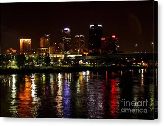 Nights In Little Rock Canvas Print