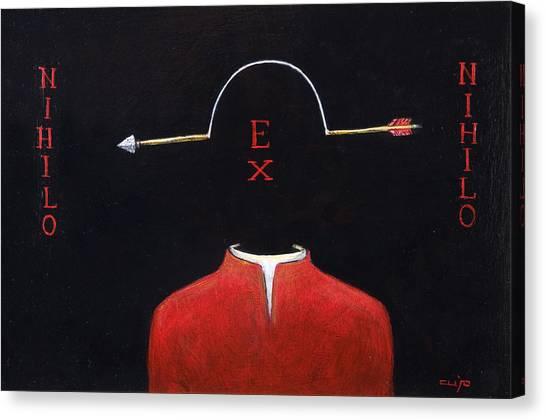 Nihilo Ex Nihilo Canvas Print by Canis Canon