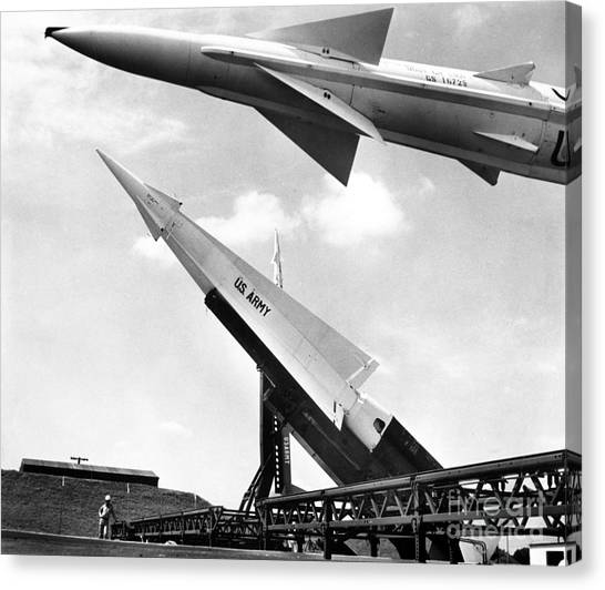 Warheads Canvas Print - Nike Missile, C1959 by Granger