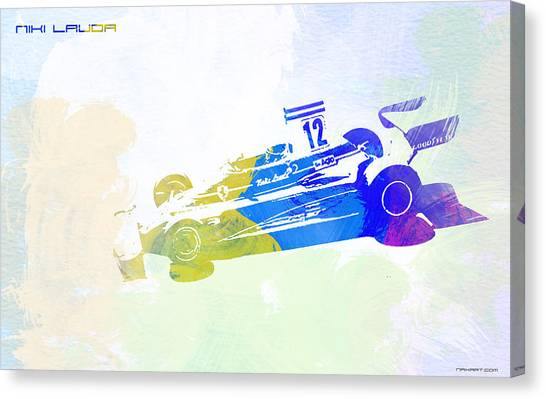 Formula Car Canvas Print - Niki Lauda by Naxart Studio