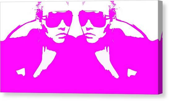 Niki Mirror Pink Canvas Print by Naxart Studio