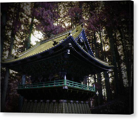 Monks Canvas Print - Nikko Architectural Detail by Naxart Studio