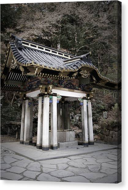 Monastery Canvas Print - Nikko Architecture by Naxart Studio