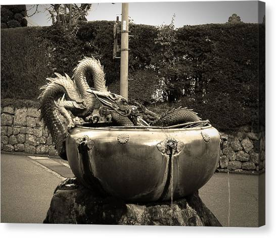 Dragons Canvas Print - Nikko Fountain by Naxart Studio