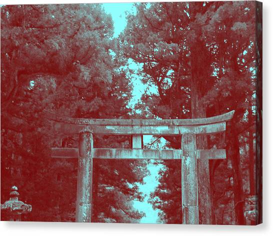 Monks Canvas Print - Nikko Gate by Naxart Studio