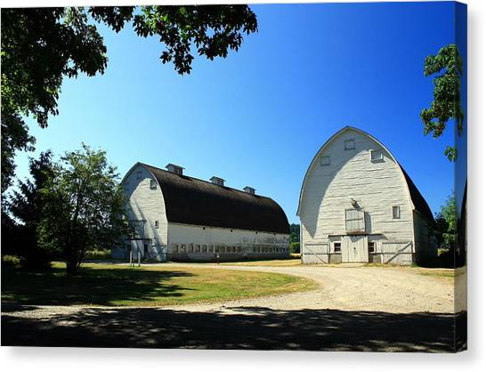 Nisqually Two Barns Canvas Print