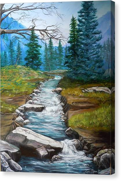 Nixon's Bubbling Running Creek Canvas Print