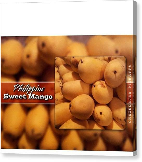 Mangos Canvas Print - . . On The Way Home This Evening..i by Chez Edejer