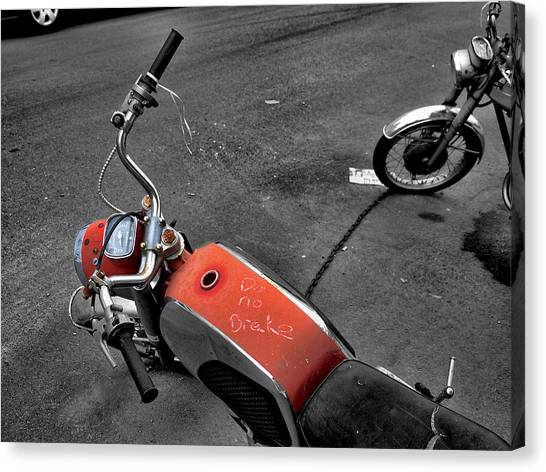 No Brakes Canvas Print by Bennie Reynolds