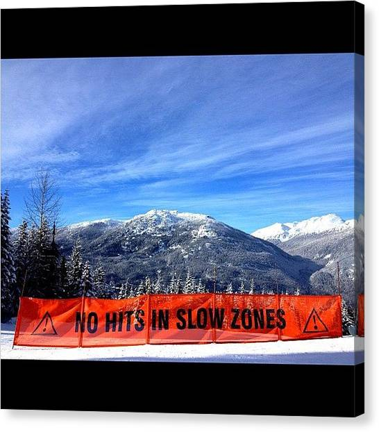 Snowboarding Canvas Print - No Hits #ig #instagram #iphone4s by Brandon Erickson