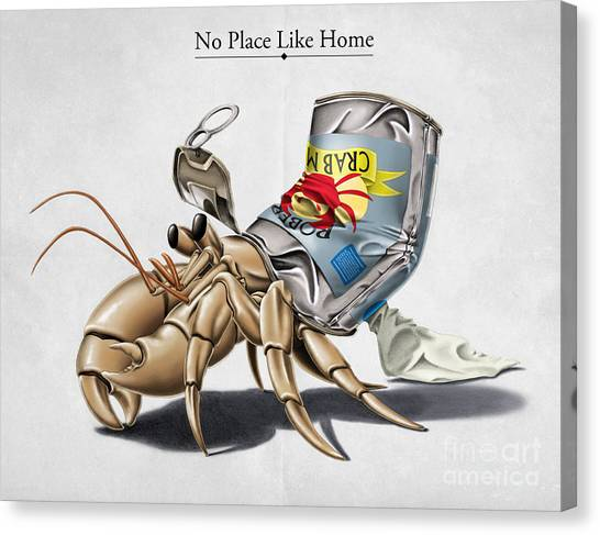 Crabs Canvas Print - No Place Like Home by Rob Snow