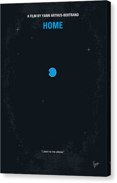 Aerial Canvas Print - No037 My Home Minimal Movie Poster by Chungkong Art