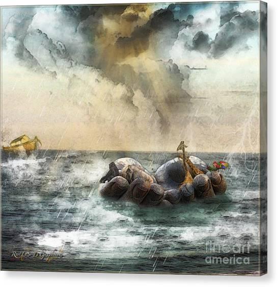 Noah's Ark Stragglers Canvas Print