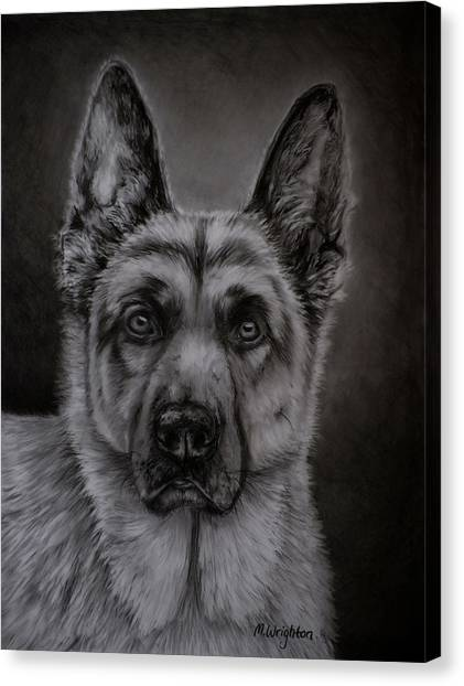 Noble - German Shepherd Dog  Canvas Print