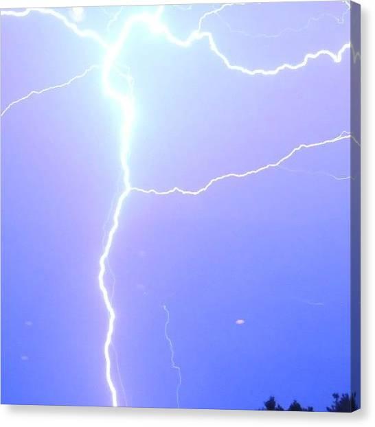 Thunderstorms Canvas Print - #noedit #nikon #nature #lightning by Cameron Von Hollander
