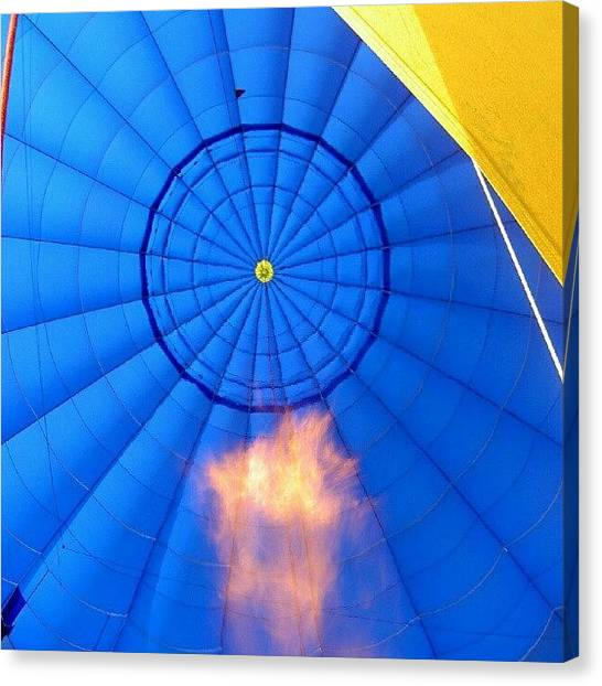 Balloons Canvas Print - #noedit #nofilter #ballooning #flame by Kevin Zoller