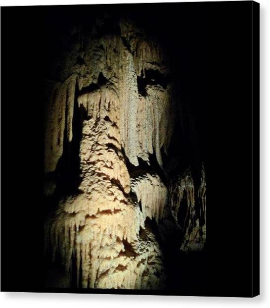 Stalactites Canvas Print - #noedit #rock #stone by Clifford McClure