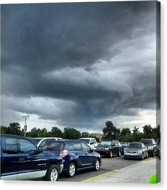 Rainclouds Canvas Print - #nofilter #buschgardens #looktothesky by Ashlie Taylor
