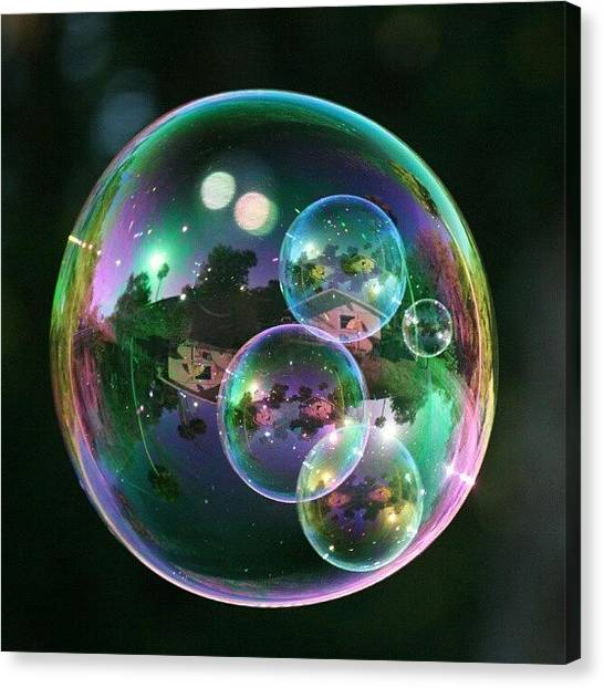 Rainbows Canvas Print - #nofilter #doubletap #bubbles by Mandy Shupp