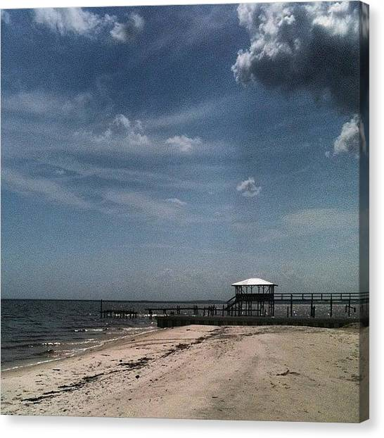 Mississippi Canvas Print - #nofilter #mississippi #beach#clouds by Tammy Gossett