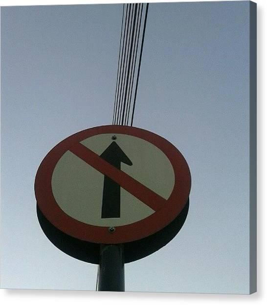 Traffic Canvas Print - #nofilter  #novalima #minasgerais by Elis Regina Martins