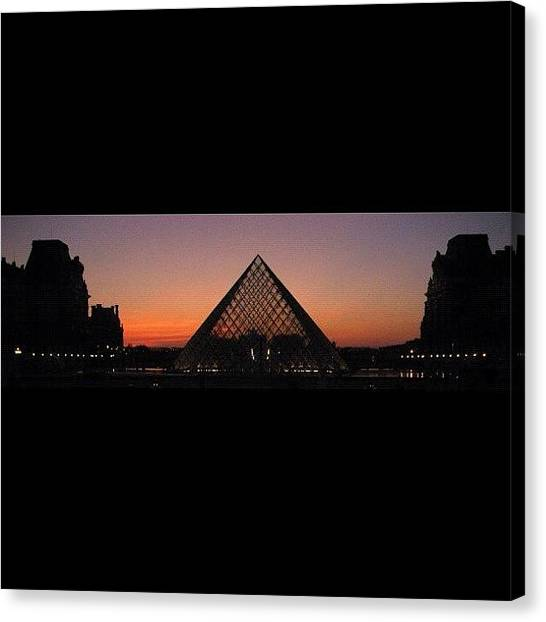 Kings Canvas Print - #nofilter #paris #france #sunset At The by Cai King-Young