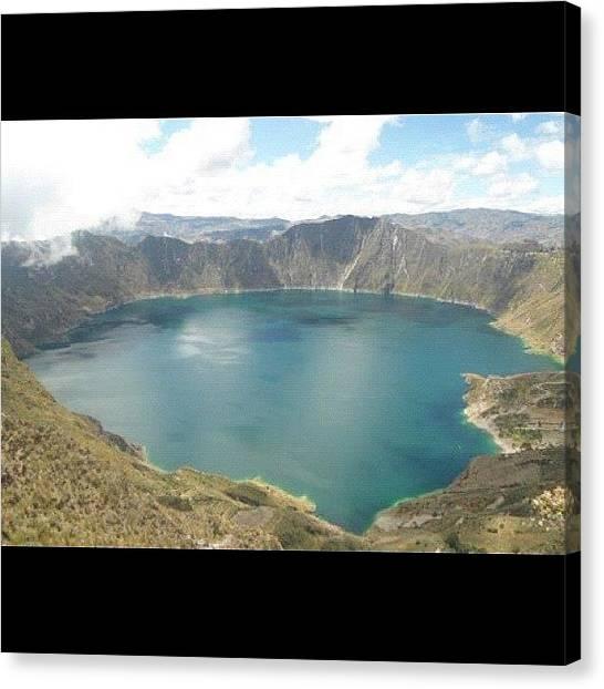 Volcanoes Canvas Print - #nofilter #quilotoa #ecuador #volcano by Charles H