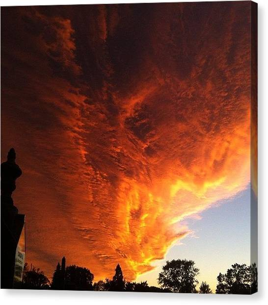 Apocalypse Canvas Print - #nofilter #skyporn #cloudporn #sky by T C