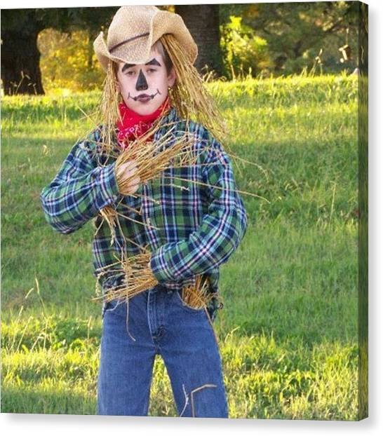 Scarecrows Canvas Print - #nofliter My #son #halloween by S Smithee
