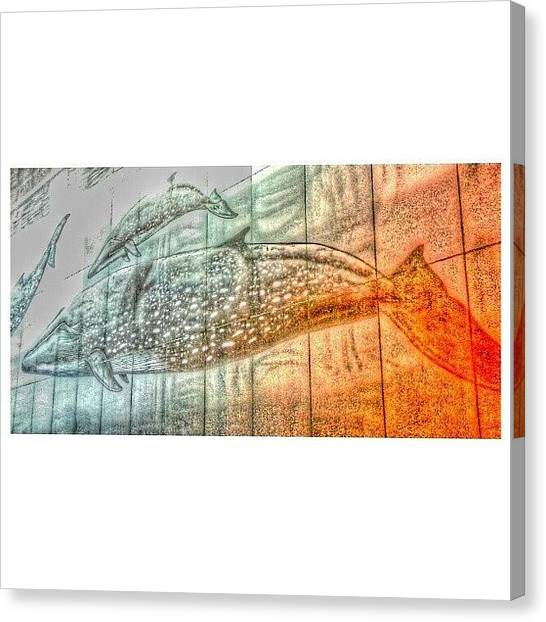 Whales Canvas Print - #nola #la #louisiana #neworleans #mall by Clifford McClure