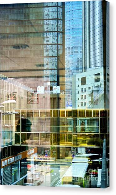 Hongkong Canvas Print - Non-stop by Dean Harte