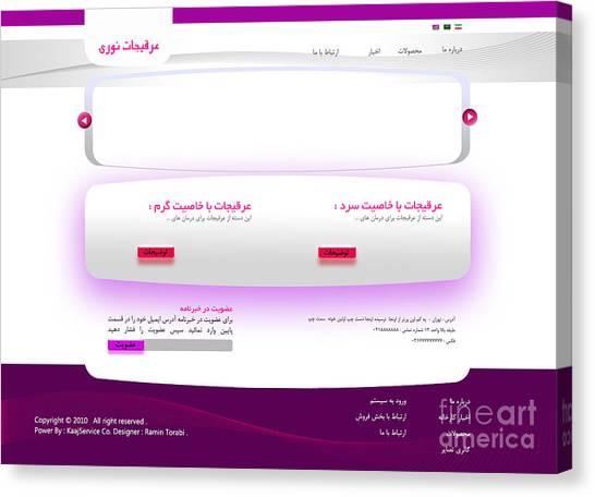 Noori Company Web Template Canvas Print by Ramin Torabi