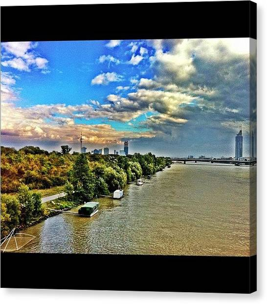 Tuna Canvas Print - Nordsteg #wien #vienna #webstagram by Selim Babacan