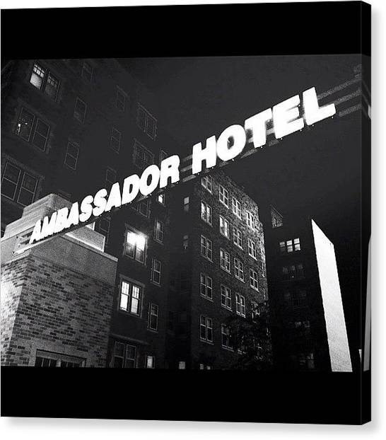 Wisconsin Canvas Print - Norman Bate's Upscale Hotel by Tasha L