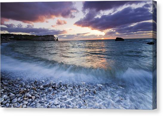 Etretat Canvas Print - Normandie Coast by Mircea Costina Photography