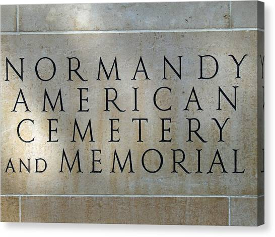 Normany Ww II American Cemetery And Memorial  Canvas Print