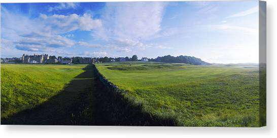 Royal Marines Canvas Print - North Berwick Golf Club by Jan W Faul
