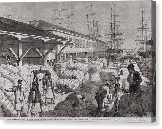 North Commercial Wharf Of Charleston Canvas Print by Everett