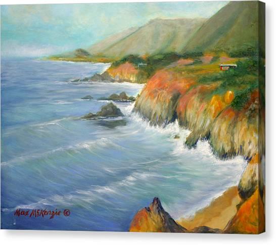 North Of Big Sur Canvas Print by Max Mckenzie