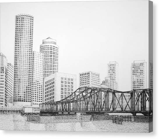 Northern Avenue Bridge - Boston Canvas Print by Tim Murray
