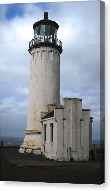 Northhead Lighthouse At Cape Disappointment  Canvas Print
