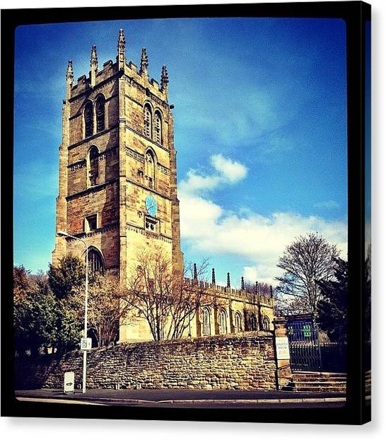 Spiritual Canvas Print - #northop #church #flintshire #buildings by Miss Wilkinson