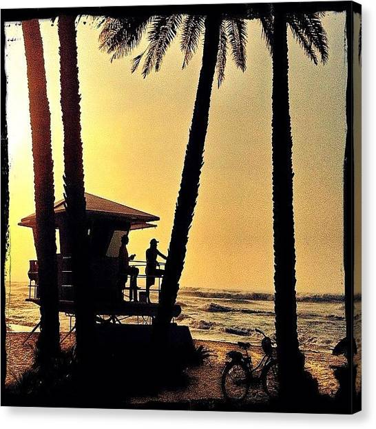 Lifeguard Canvas Print - #northshore #surf #patrol #waves #oahui by Debi Tenney