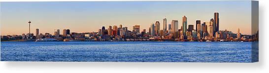 Northwest Jewel - Seattle Skyline Cityscape Canvas Print