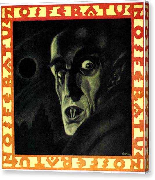 Nosferatu, Max Schreck, 1922 Canvas Print by Everett